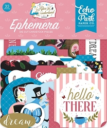 Echo Park - Alice in Wonderland Collection - Die Cut Ephemera