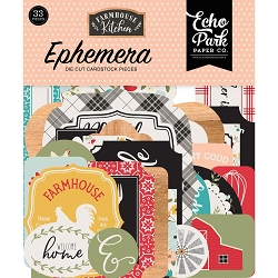 Echo Park - Farmhouse Kitchen Collection - Die Cut Ephemera