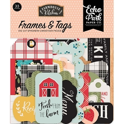 Echo Park - Farmhouse Kitchen Collection - Die Cut Tags & Frames