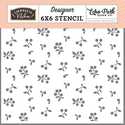 Echo Park - Farmhouse Kitchen Collection - Farm Berries Stencil