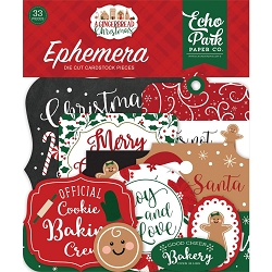 Echo Park - A Gingerbread Christmas Collection - Die Cut Ephemera