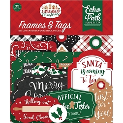 Echo Park - A Gingerbread Christmas Collection - Die Cut Tags & Frames