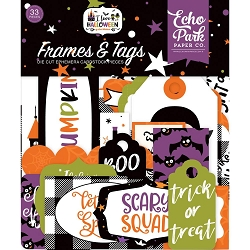 Echo Park - I Love Halloween Collection - Die Cut Tags & Frames