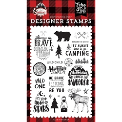 Echo Park - Let's Lumberjack Collection - Under The Stars Clear Stamps