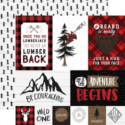 Echo Park - Let's Lumberjack Collection - Multi Journaling Cards 12