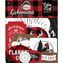 Echo Park - Let's Lumberjack Collection - Die Cut Ephemera