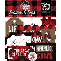 Echo Park - Let's Lumberjack Collection - Die Cut Tags & Frames
