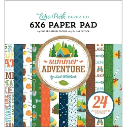 Echo Park - Summer Adventure Collection - 6x6 Paper Pad