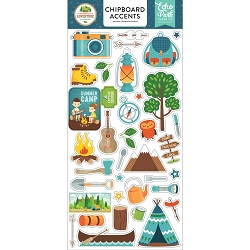 Echo Park - Summer Adventure Collection - 6x12 Chipboard Accents
