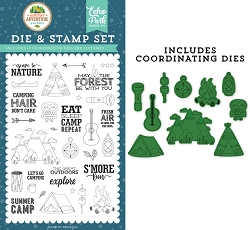 Echo Park - Summer Adventure Collection - Escape to Nature Clear Stamps & Die Set