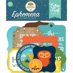 Echo Park - Summer Adventure Collection - Die Cut Ephemera