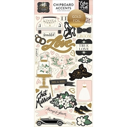 Echo Park - Wedding Day Collection - 6x12 Chipboard Accents