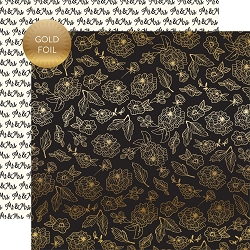 Echo Park - Wedding Day Collection - Gold Floral 12