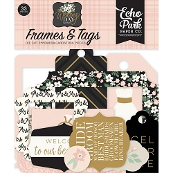Echo Park - Wedding Day Collection - Die Cut Tags & Frames