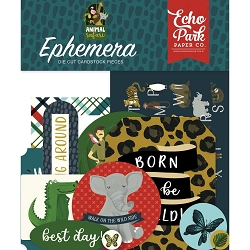 Echo Park - Animal Safari Collection - Die Cut Ephemera
