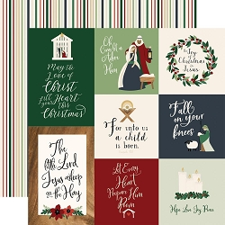 Echo Park - Away In A Manger Collection - Journaling Cards 12