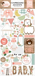 Echo Park - Baby Girl Collection - 6x12 Chipboard Accents
