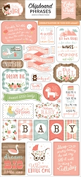 Echo Park - Baby Girl Collection - 6x12 Chipboard Phrases