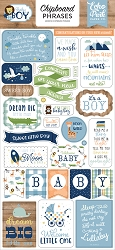 Echo Park - Baby Boy Collection - 6x12 Chipboard Phrases