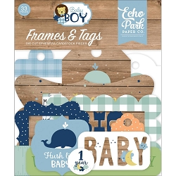 Echo Park - Baby Boy Collection - Die Cut Tags & Frames