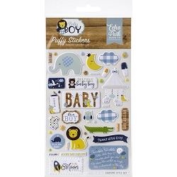 Echo Park - Baby Boy Collection - Puffy Stickers