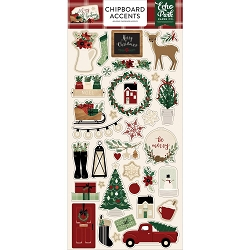 Echo Park - A Cozy Christmas Collection - 6x12 Chipboard Accents