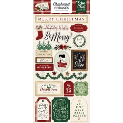 Echo Park - A Cozy Christmas Collection - 6x12 Chipboard Phrases