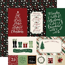 Echo Park - A Cozy Christmas Collection - Journaling Cards 12
