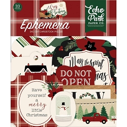 Echo Park - A Cozy Christmas Collection - Die Cut Ephemera