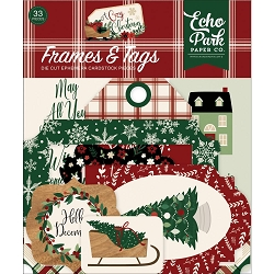 Echo Park - A Cozy Christmas Collection - Die Cut Tags & Frames