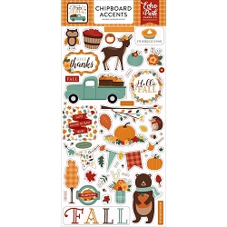 Echo Park - Happy Fall Collection - 6x12 Chipboard Accents