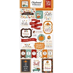 Echo Park - Happy Fall Collection - 6x12 Chipboard Phrases