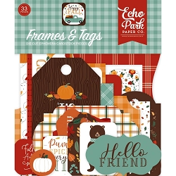 Echo Park - Happy Fall Collection - Die Cut Tags & Frames
