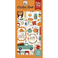 Echo Park - Happy Fall Collection - Stickers Book