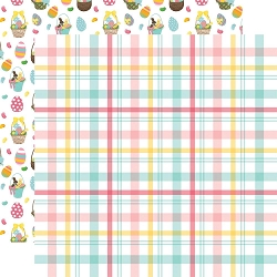 Echo Park - I Love Easter Collection - Easter Plaid 12