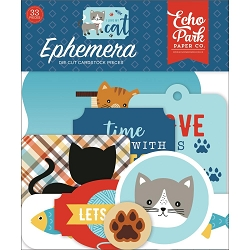 Echo Park - I Love My Cat Collection - Die Cut Ephemera
