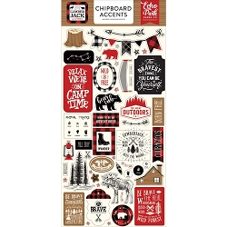 Echo Park - Little Lumberjack Collection - 6x12 Chipboard Accents