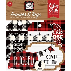 Echo Park - Little Lumberjack Collection - Die Cut Tags & Frames