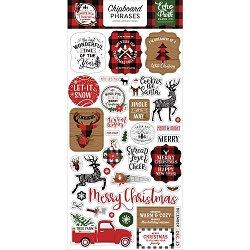 Echo Park - A Lumberjack Christmas Collection - 6x12 Chipboard Phrases
