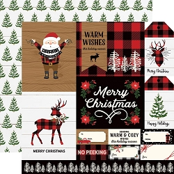Echo Park - A Lumberjack Christmas Collection - Multi Journaling Cards 12