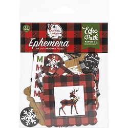 Echo Park - A Lumberjack Christmas Collection - Die Cut Ephemera