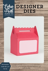 Echo Park - Designer Dies - Rectangular Gable Box 3-D Die
