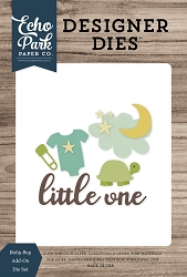 Echo Park - Designer Dies - Baby Boy Add-On Die Set