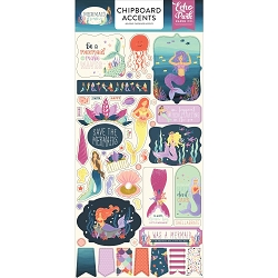 Echo Park - Mermaid Dreams Collection - 6x12 Chipboard Accents
