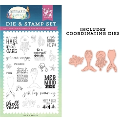 Echo Park - Mermaid Dreams Collection - Be A Mermaid Clear Stamps & Die Set