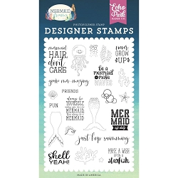 Echo Park - Mermaid Dreams Collection - Be A Mermaid Clear Stamps