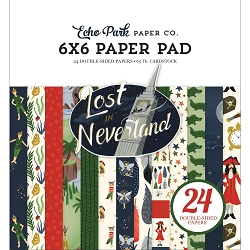 Echo Park - Lost in Neverland Collection - 6x6 Paper Pad