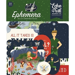 Echo Park - Lost in Neverland Collection - Die Cut Ephemera