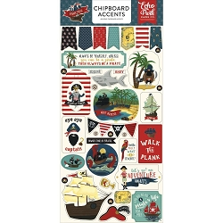 Echo Park - Pirate Tales Collection - 6x12 Chipboard Accents