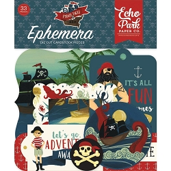 Echo Park - Pirate Tales Collection - Die Cut Ephemera